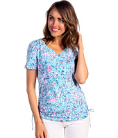 Caribbean Joe - Paisley Batik S/S Sweetheart w/ Side Ruching
