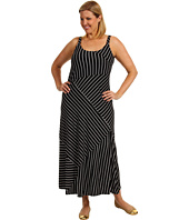 Vince Camuto - Plus Size Bandage Stripe High Low Tank Dress