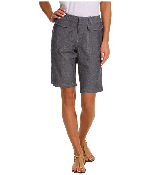 Caribbean Joe - Skimmer w/ Front Pocket Flaps (Chambray) - Apparel