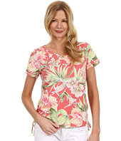 Caribbean Joe - Heavenly Bliss S/S Side Rouch w/ Sweetheart Neckline