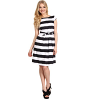 Tahari by ASL - Hilda Cotton Satin Stripe Dress