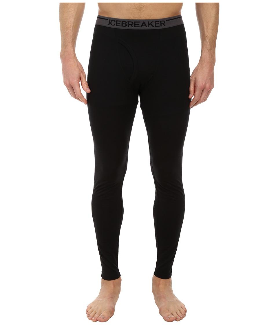 Icebreaker Anatomica Leggings w Fly Black Mens Clothing