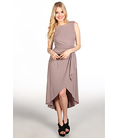 Suzi Chin for Maggy Boutique - Sleeveless High Low Hem Faux Wrap