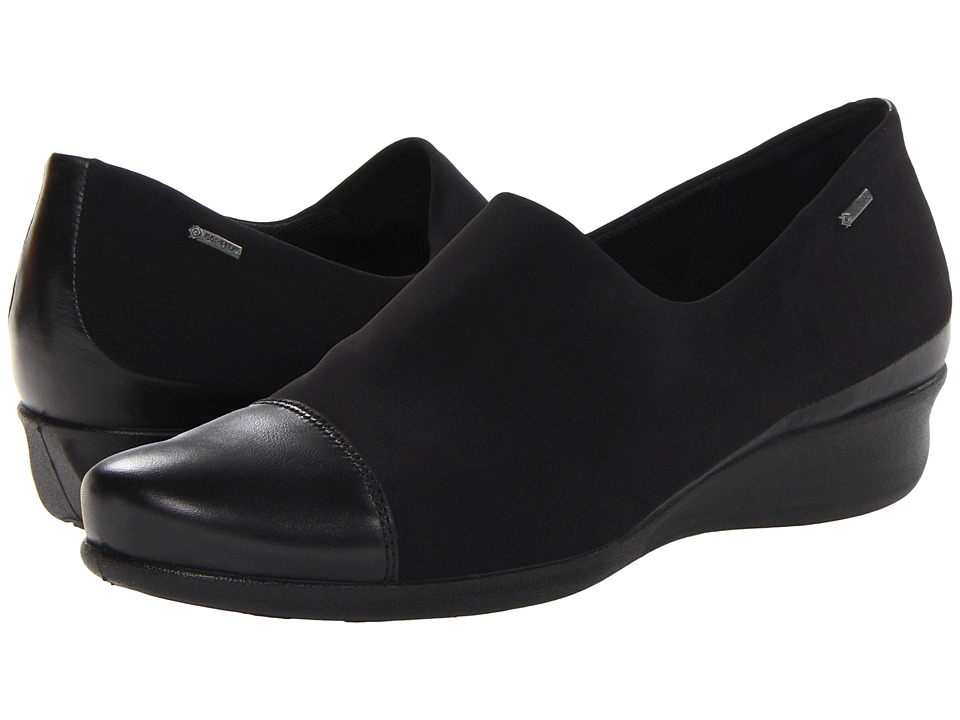 ECCO Abelone GTX Slip On Black/Black Womens Shoes
