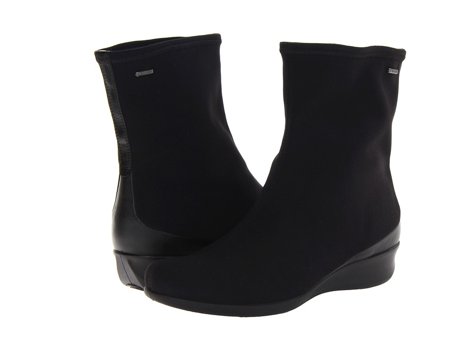 ECCO Abelone Short Boot Black/Black Womens Boots