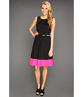 Calvin Klein - Fit-and-Flare Dress with Contrast Hem