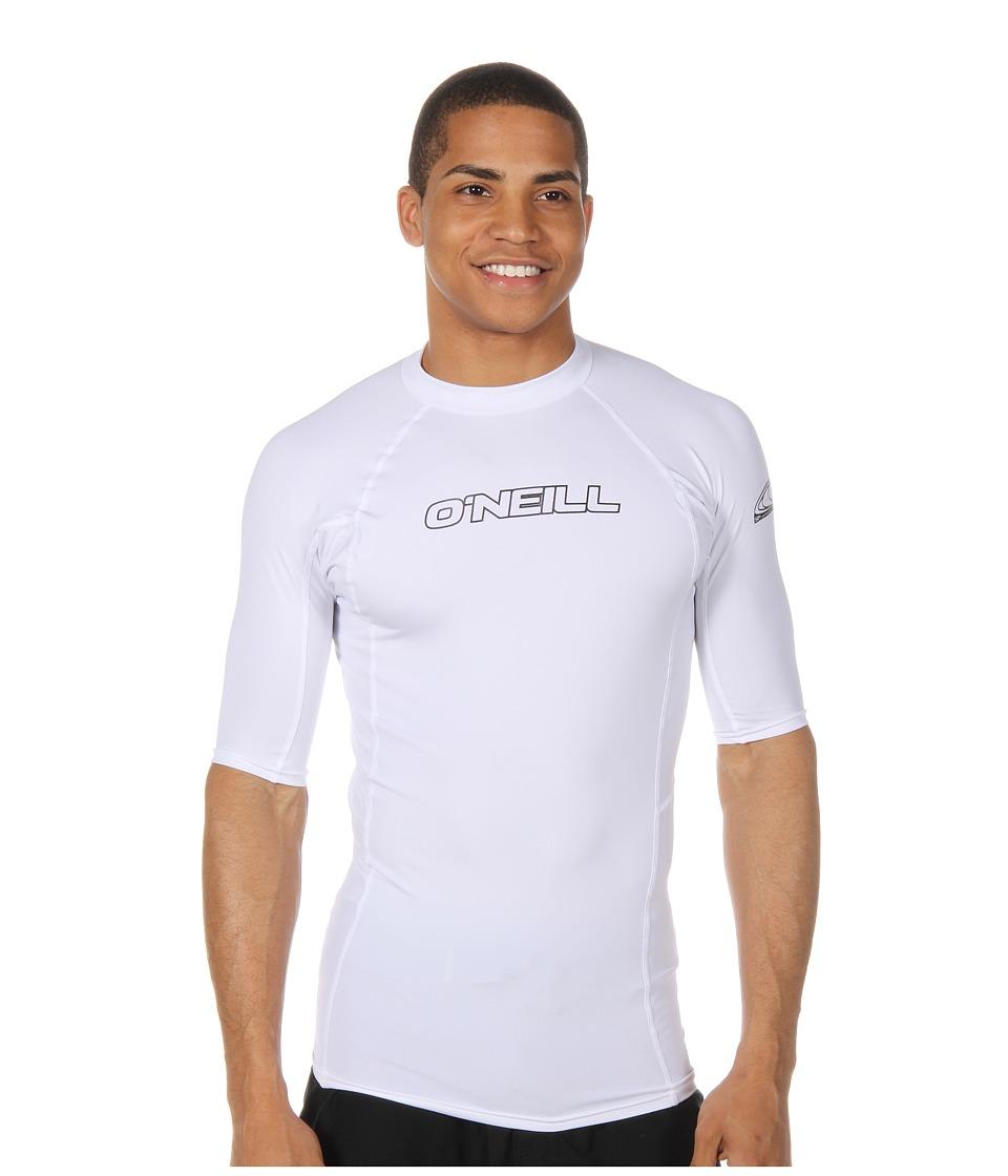 ONeill Basic Skins S/S Crew White Mens Swimwear