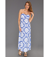 Tommy Bahama - Medallion Shirred Bandeau Tie Back Dress
