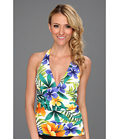 Tommy Bahama - Happy Hawaii V-Neck Halter Cup Tankini