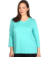 Pendleton - Plus Size Three-Quarter Sleeve Rib Tee