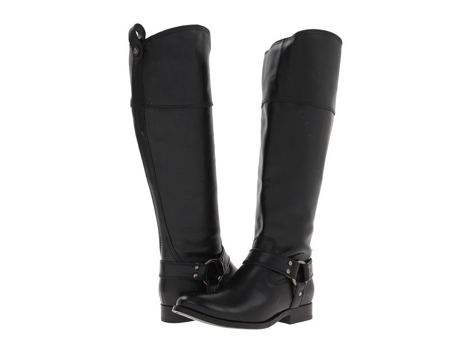 Frye - Melissa Harness Inside Zip Extended (Black Extended Soft Vintage Leather) Cowboy Boots