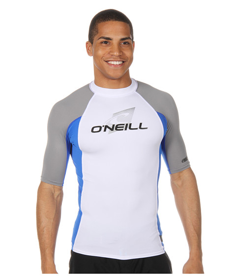 Shop O'Neill - Skins S, S Crew White, Pacific, Flint  and O'Neill online - Men, Clothing, Swimwear, Swimsuit Tops online Store