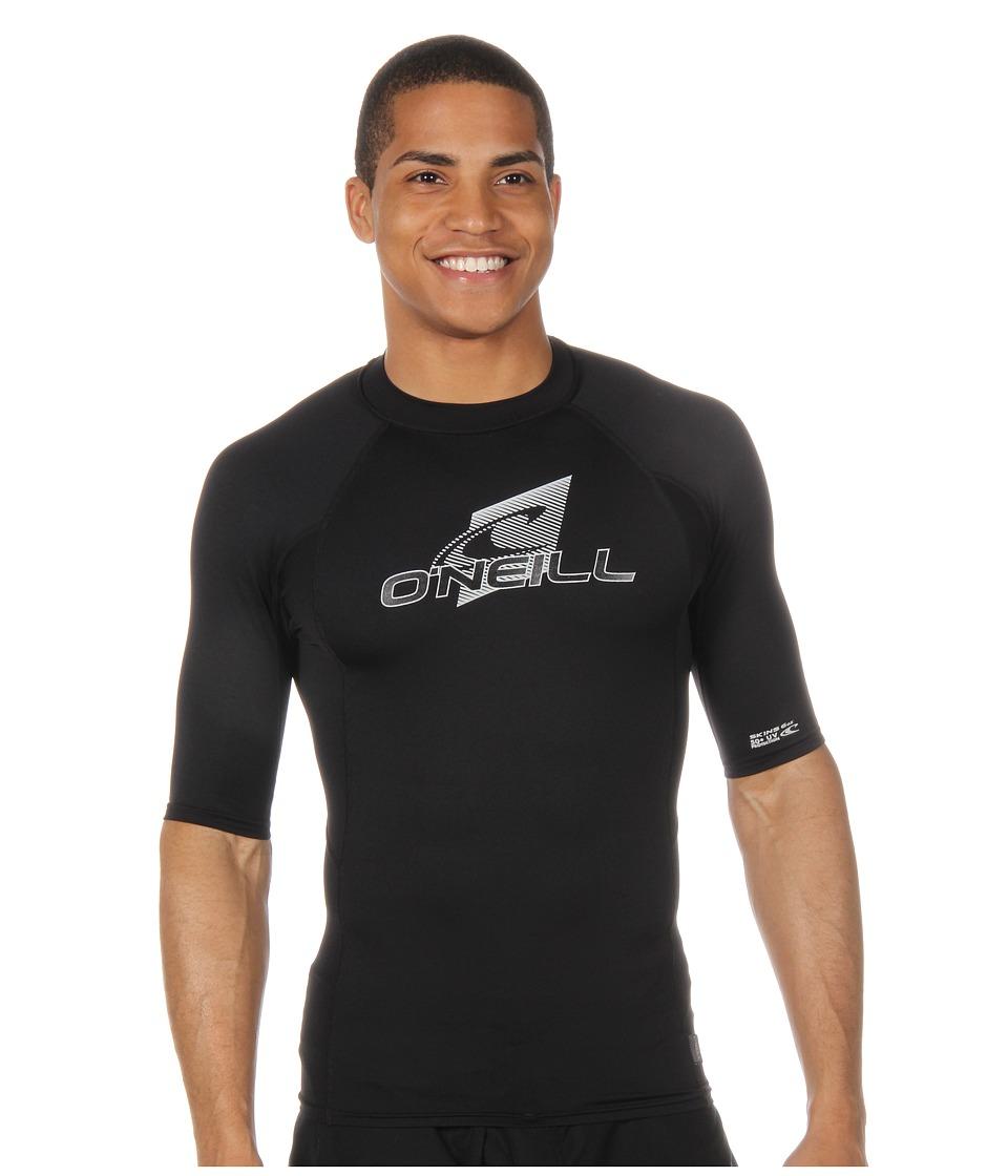 ONeill Skins SS Crew BlackBlackBlack Mens Swimwear
