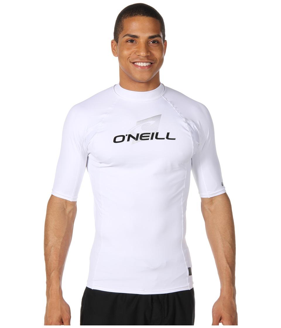 ONeill Skins SS Crew WhiteWhiteWhite Mens Swimwear