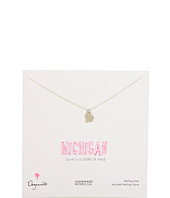 Dogeared Jewels - State Of Mind Michigan Necklace 18