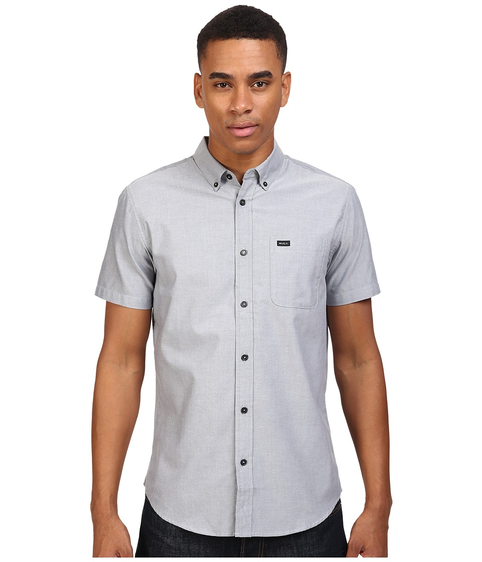 RVCA Thatll Do Oxford S/S Pavement Mens Short Sleeve Button Up