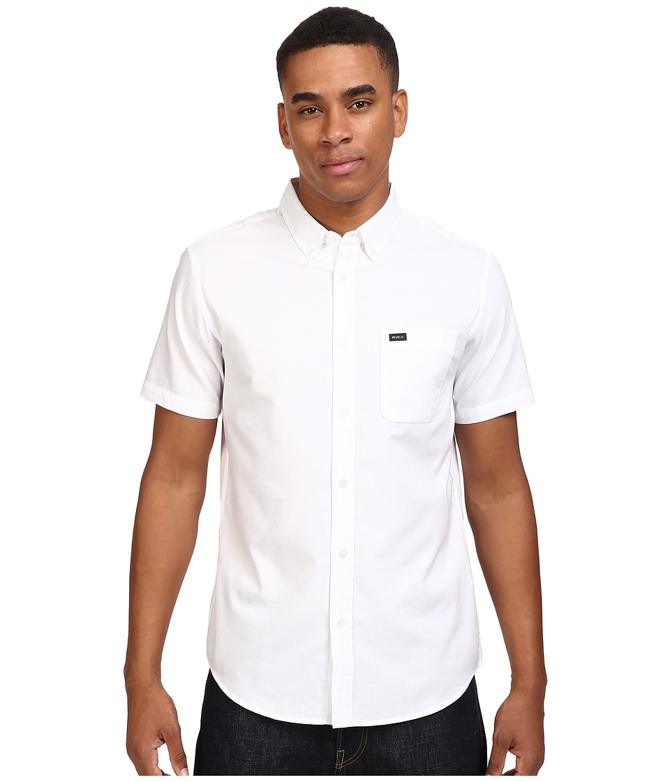 RVCA Thatll Do Oxford S/S White Mens Short Sleeve Button Up