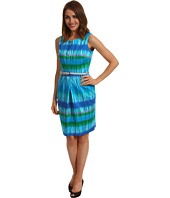 Calvin Klein - Sleeveless Tie Dye Sheath Dress