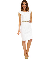 Calvin Klein - Belted Eyelet Sheath Dress