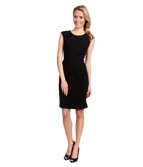 Calvin Klein - Stud Detail Sheath Dress (Black) - Apparel
