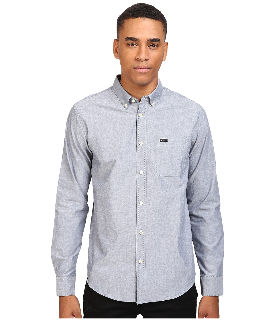 RVCA Thatll Do Oxford L/S Distant Blue Mens Long Sleeve Button Up