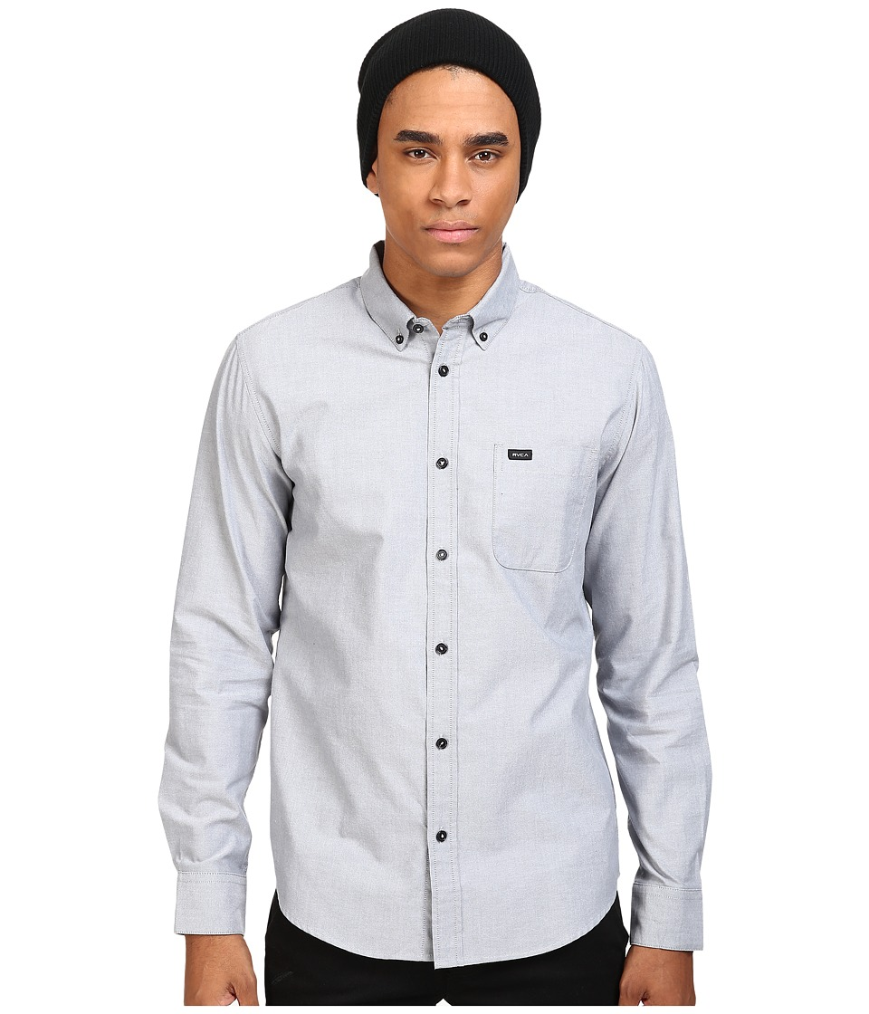 RVCA Thatll Do Oxford L/S Pavement Mens Long Sleeve Button Up