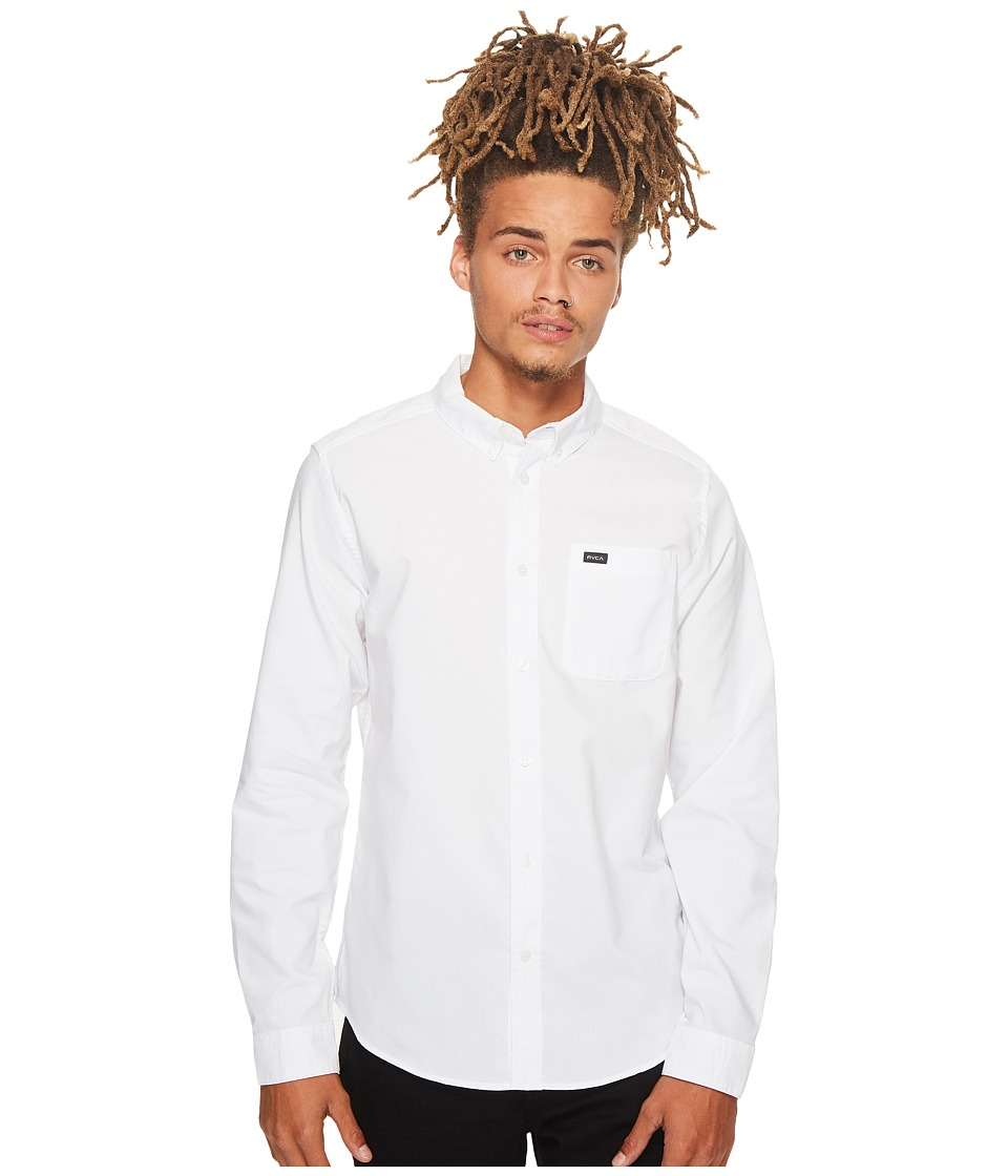 RVCA Thatll Do Oxford L/S White Mens Long Sleeve Button Up