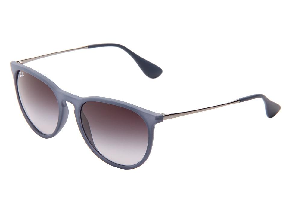 Ray-Ban Erika (Rubber Blue) Plastic Frame Fashion Sunglasses