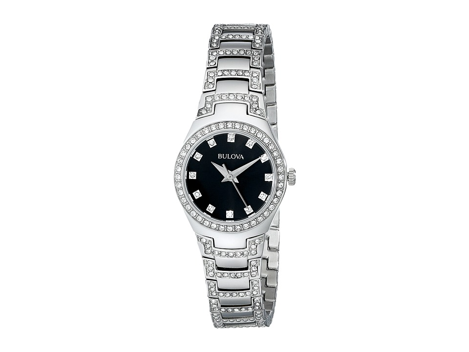 Bulova - Ladies Crystal - 96L170 (Silver) Analog Watches