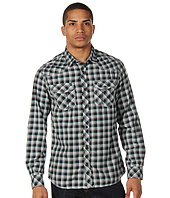 Marc Ecko Cut & Sew - Dark Triple Needle Plaid LS Woven
