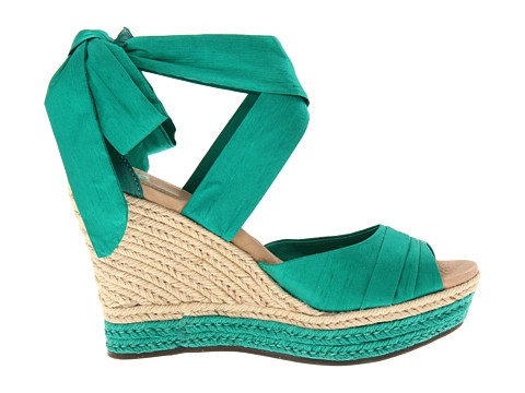 Emerald Green Wedge Heels in Larger Sizes
