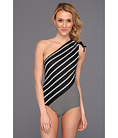 DKNY - Intermix One Shoulder Maillot w/ Removable Soft Cups