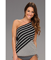 DKNY - Intermix One Shoulder Tankini w/ Removable Soft Cups