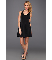 DKNY - Bold Mix Racerback & Short Cover Up Dress W/ Mesh Detail