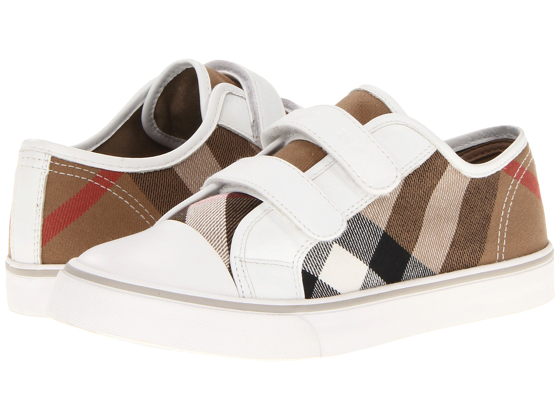 burberry kids canvas check trainers toddler little kid