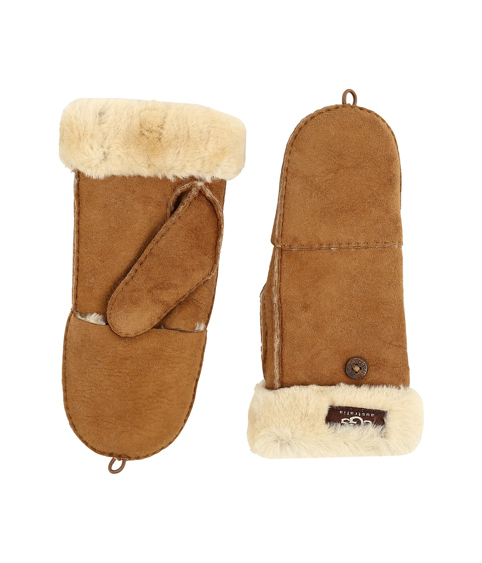 UGG Shearling Flip Mitten (Chestnut) Wool Gloves