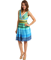 Muse - Striped Surplice Dress