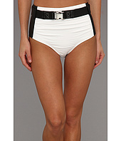 MICHAEL Michael Kors - Chatsworth Solids Retro High Waisted Bottom w/ Belt