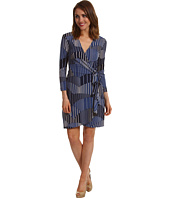 BCBGMAXAZRIA - Petite Adele Geo Stripe Wrap Dress