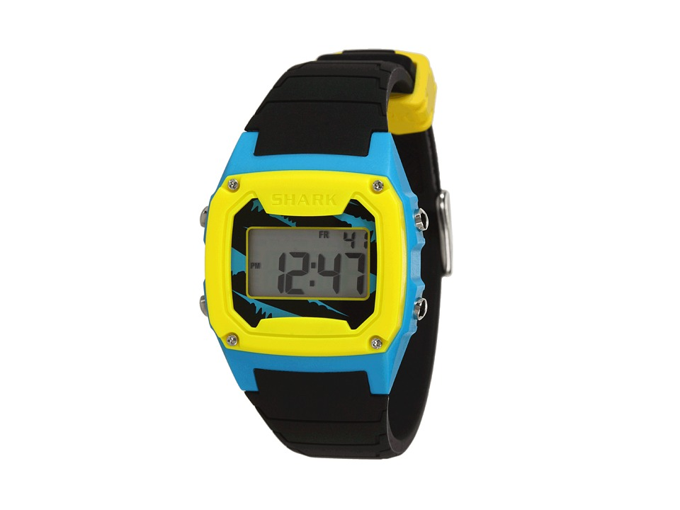 Freestyle Shark Classic Silicone Black/Blue/Yellow Watches