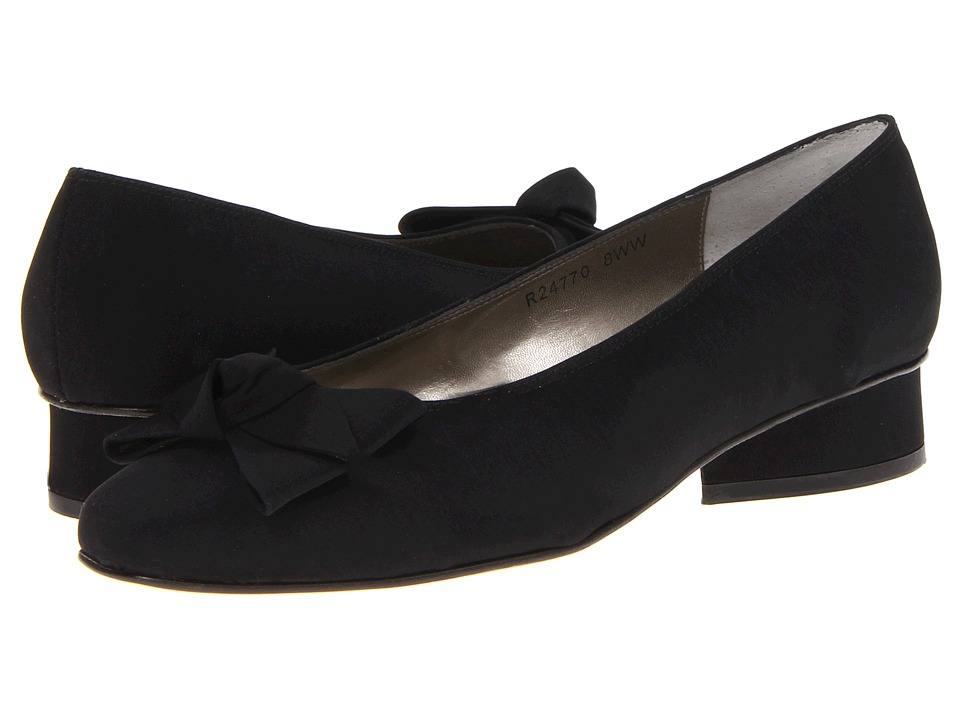 Rose Petals - Drip Black Micro Womens Slip on  Shoes $90.00 AT vintagedancer.com