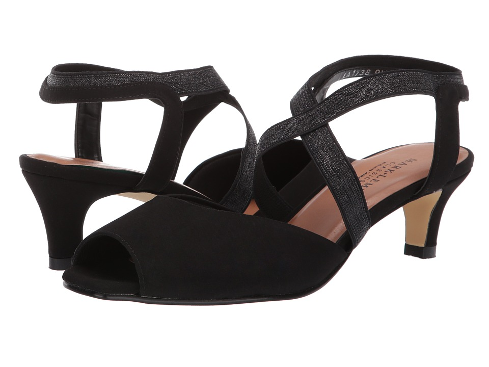 1940s Style Shoes, 40s Shoes Walking Cradles - Boa Black MicroGore Womens Sandals $109.95 AT vintagedancer.com