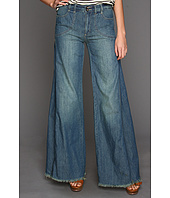 Free People - Chambray Flare in Dolphin Blue Wash