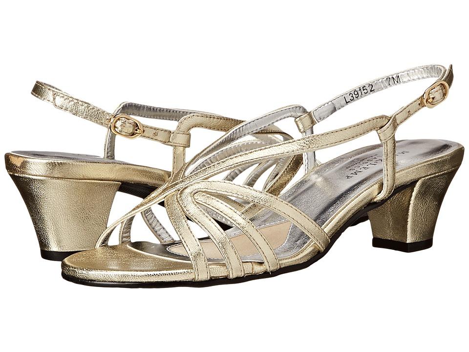 Rose Petals Leash Gold Nappa Womens Sandals