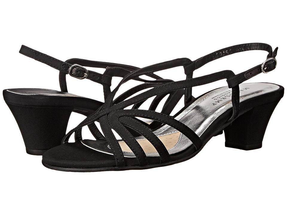 Rose Petals Leash Black Micro Womens Sandals