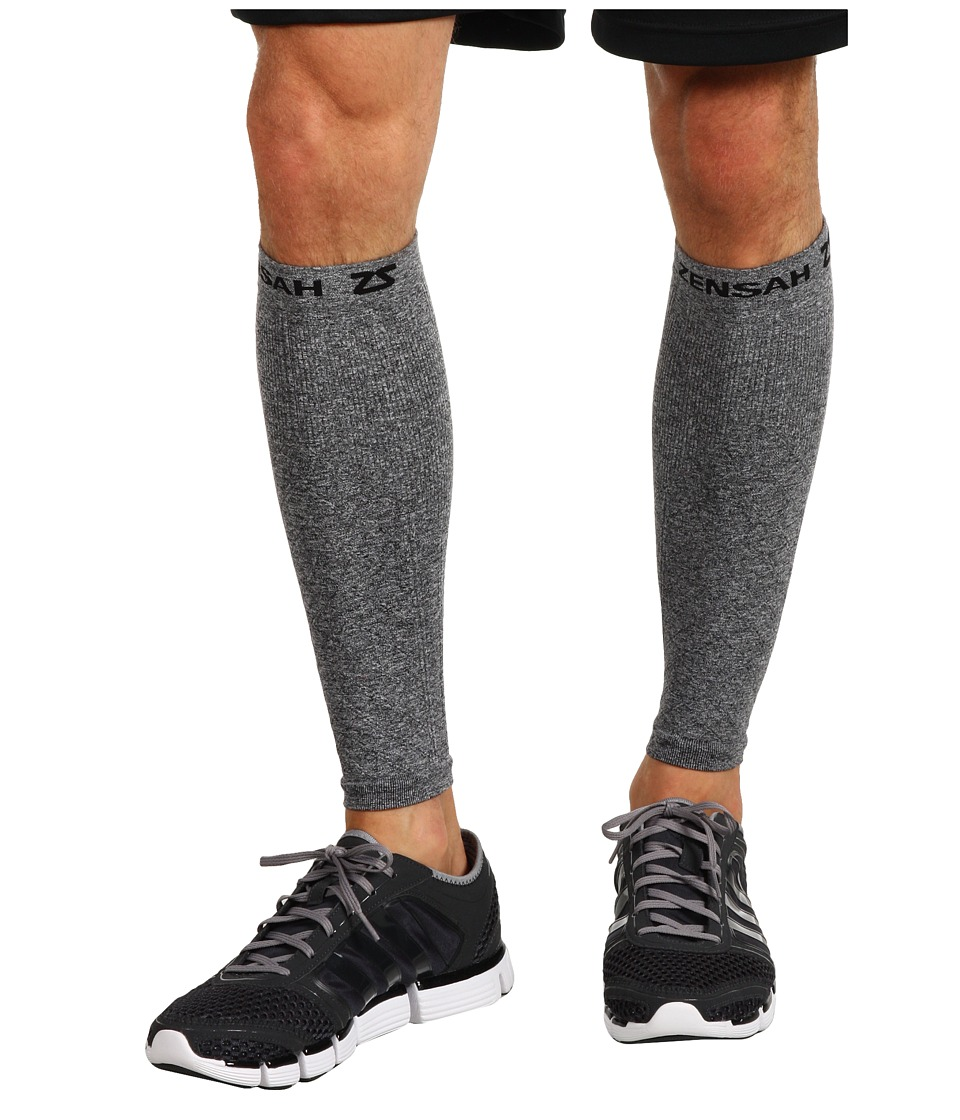 Zensah Compression Leg Sleeves Heather Grey Athletic Sports Equipment
