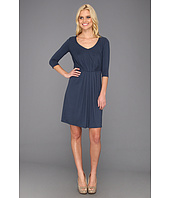 Three Dots - 3/4 Sleeve Pleated Dress