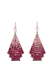 Tarina Tarantino - Micro Pave Deco Fans Earrings
