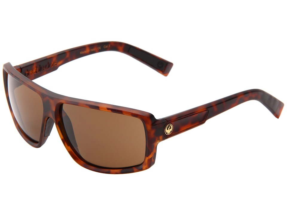 Dragon Alliance Double Dos Matte Tortoise/Bronze Sport Sunglasses