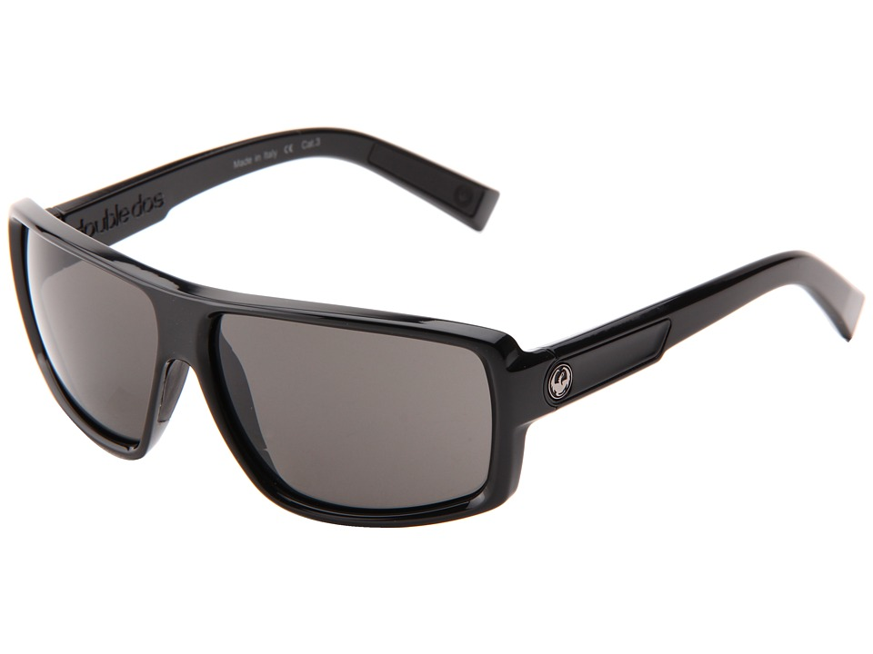 Dragon Alliance Double Dos Jet/Grey Sport Sunglasses